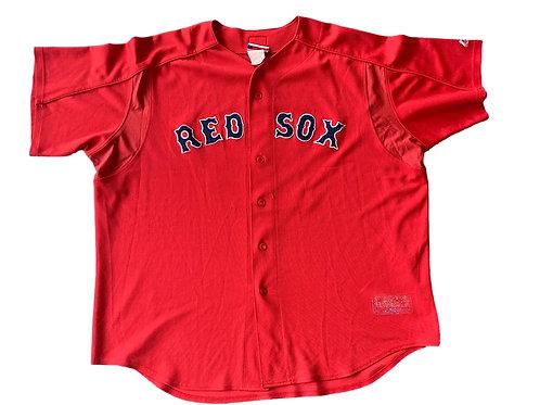 Vintage Boston Red Sox Johnny Damon MLB Baseball Jersey By Majestic