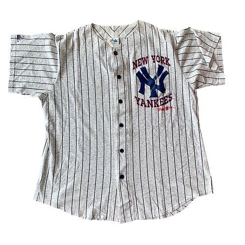Vintage New York Yankees Pinstripe MLB Baseball Jersey By Majestic