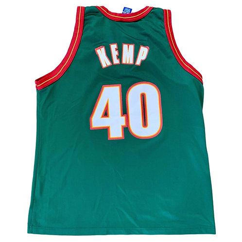 Vintage Seattle Supersonics Shawn Kemp NBA Basketball Jersey By Champion