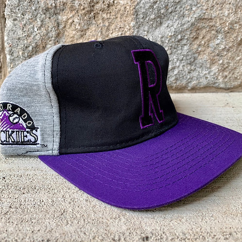 Vintage Colorado Rockies Snapback Hat By Starter