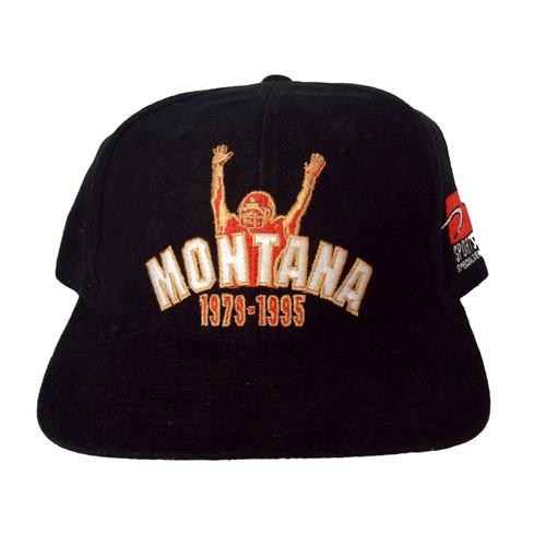 new style 38e3f ca6f1 Vintage San Francisco 49ers Joe Montana Snapback Hat by Sports Specialties