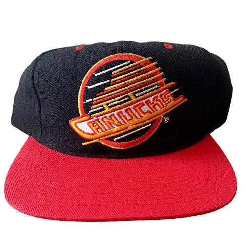 Vintage Vancouver Canucks Snapback Hat By G Cap