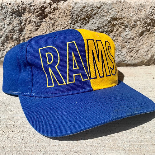 Vintage St Louis Rams Snapback Hat By NFL Game Day