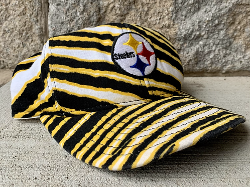 Vintage Pittsburgh Steelers Zubaz Snapback Hat By AJD