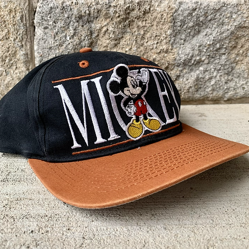 Vintage Mickey Mouse Snapback Hat By Mickey Unlimited