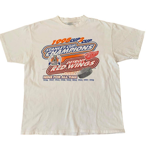 Vintage Detroit Red Wings Stanley Cup T Shirt By Power Pro