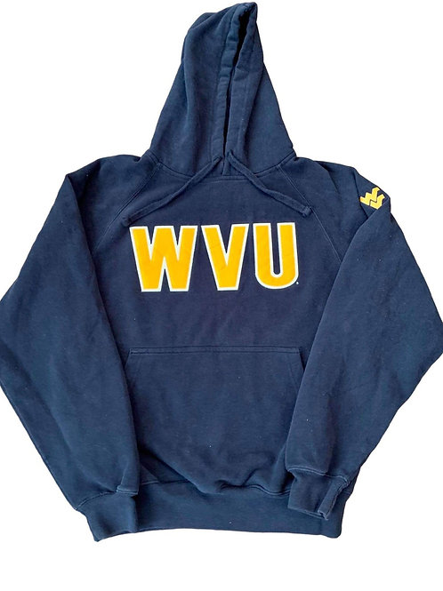 Vintage West Virginia Mountaineers Hoodie Sweater By Jones And Mitchel