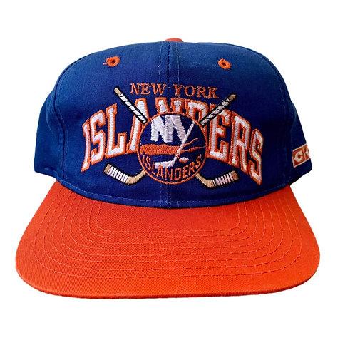 Vintage New York Islanders Snapback Hat By CCM
