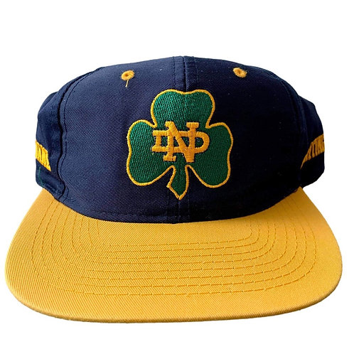 Vintage Notre Dame Irish Snapback Hat By Competitor