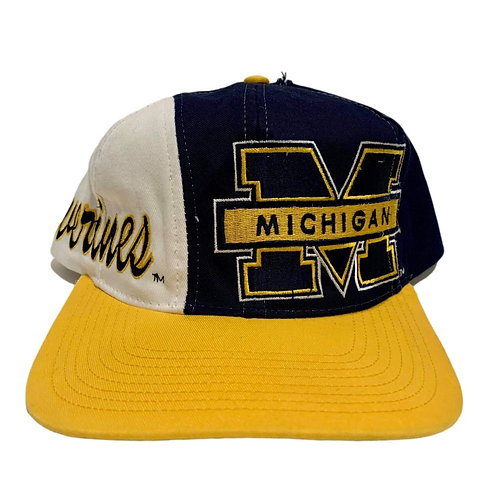 Vintage Michigan Wolverines Snapback Hat By Logo Athletic