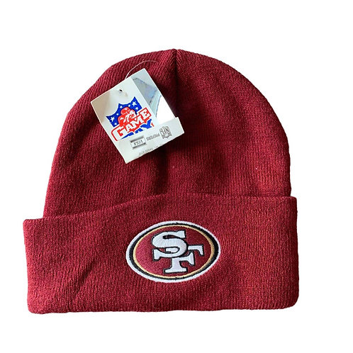 Vintage San Francisco 49ers Beanie Winter Hat By Twins