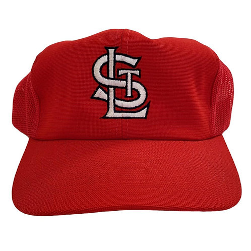 Vintage St Louis Cardinals Meshback Snapback Hat By Yupong