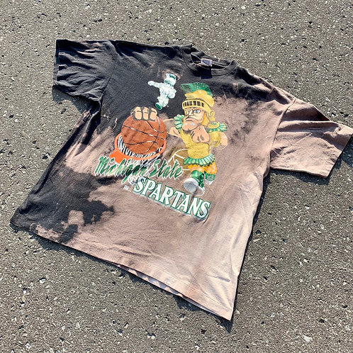 Vintage Michigan State Spartans Tie Dye by Team Rated
