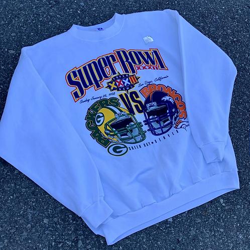 Vintage Super Bowl XXXII Crewneck Sweater By Logo 7
