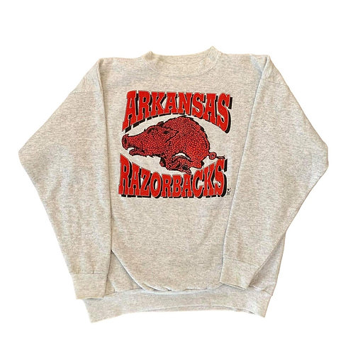 Vintage Arkansas Razorbacks Crewneck Sweater By Tultex