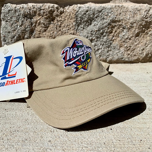 Vintage 1999 World Series Dad Hat Strapback Hat By Logo Athletic