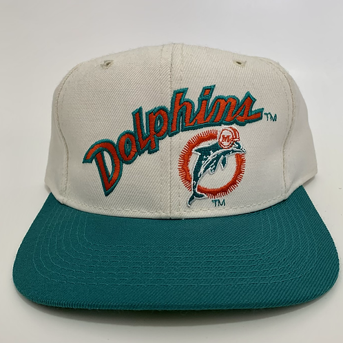 Vintage Miami Dolphins Fitted Hat By Sports Specialties