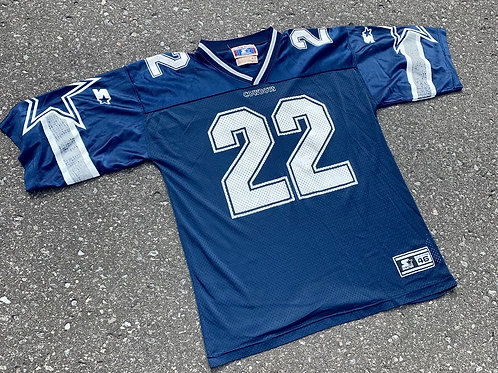 Vintage Dallas Cowboys Emmitt Smith Nfl Football Jersey By Starter