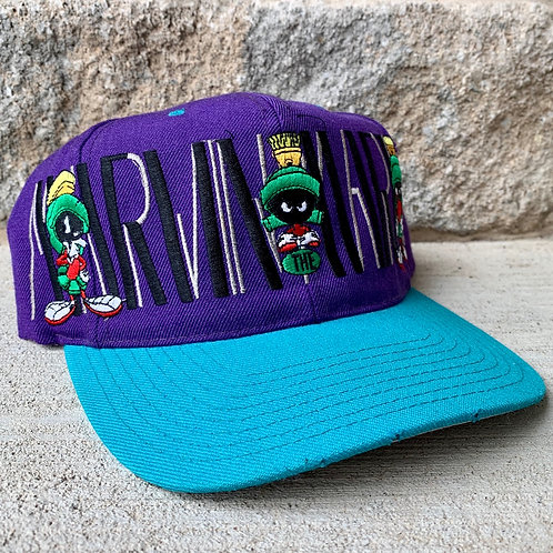 Vintage Marvin The Martian Snapback Hat Rare Looney Tunes