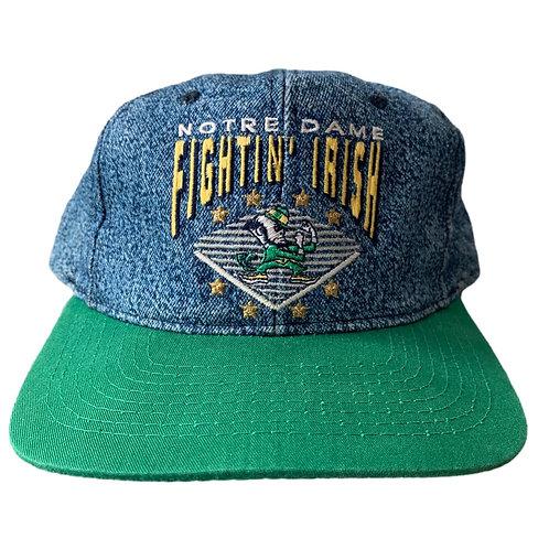 Vintage Notre Dame Irish Snapback Hat By Starter