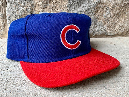 Vintage Chicago Cubs Plain Logo Snapback Hat By Competitor