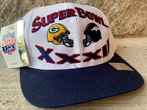 Vintage Super Bowl XXXII Snapback Hat By Logo 7