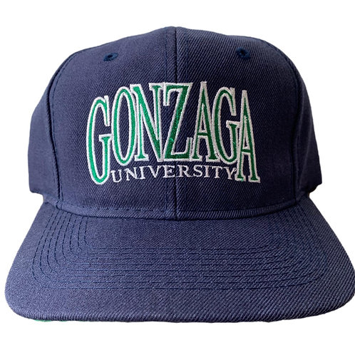 Vintage Gonzaga Bulldogs Snapback Hat By Headmaster