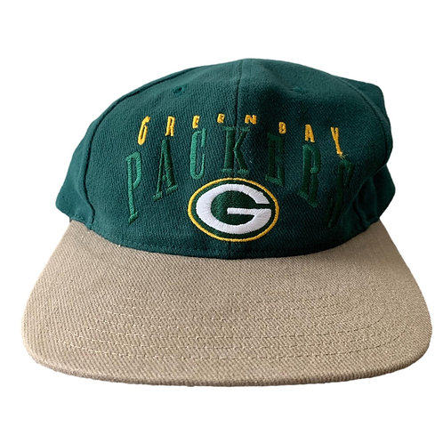 Vintage Green Bay Packers Snapback Hat By Twins