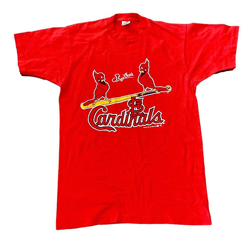 Vintage St Louis Cardinals T Shirt By Fruit Of The Loom