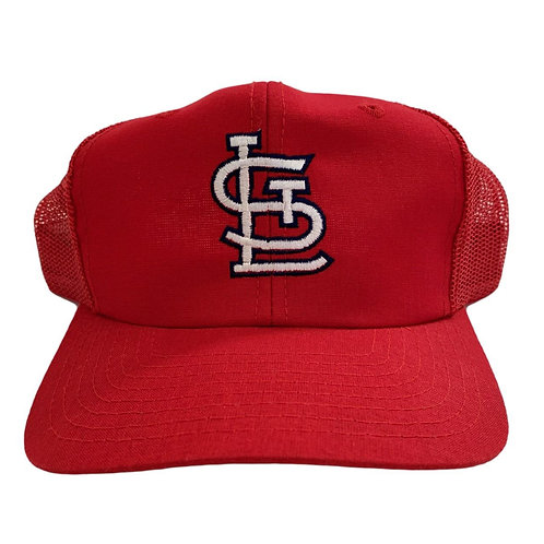 Vintage St Louis Cardinals Meshback Snapback Hat By Drew Pearson