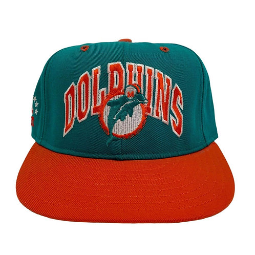 Vintage Miami Dolphins Fitted Hat By Double Logo