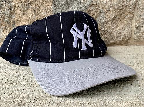 Vintage New York Yankees Pinstripe Snapback Hat By Starter