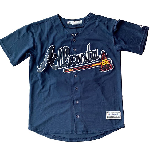 Vintage Atlanta Braves Chipper Jones MLB Baseball Jersey By Majestic