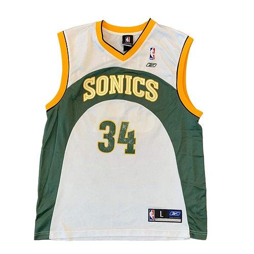 Vintage Seattle Supersonics Ray Allen NBA Basketball Jersey By Reebok
