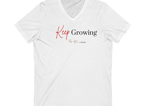 Keep Growing: Red Edition V-Neck (Unisex)