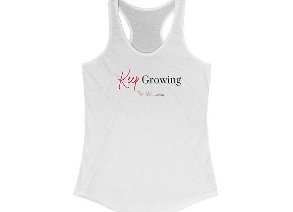 Keep Growing: Red Edition Tank Top (Women's Racerback)