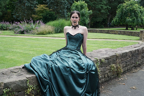 ​Black Gothic Wedding Dress