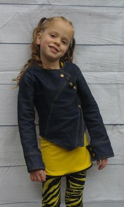 Angled Patch Denim Jacket