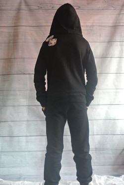 Black Hooded Sweater and Jogging Pants