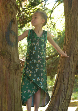 Butterfly crossover dress