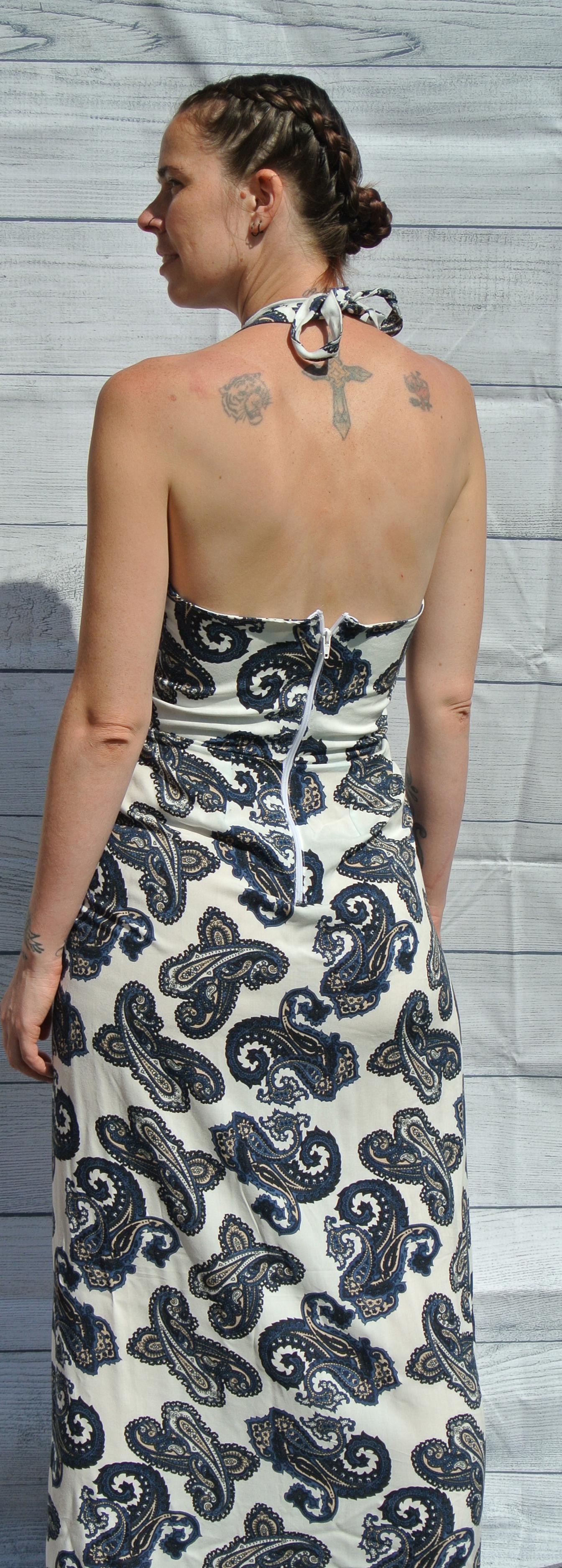 Long Halter Neck Dress