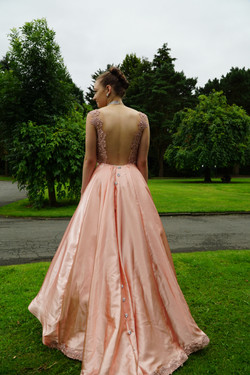 Satin And Lace Prom Dress