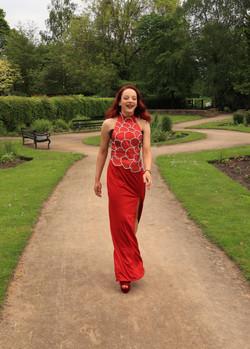 Red Satin Prom Dress