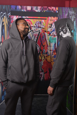 Hooded Sweater and Jogging Pants