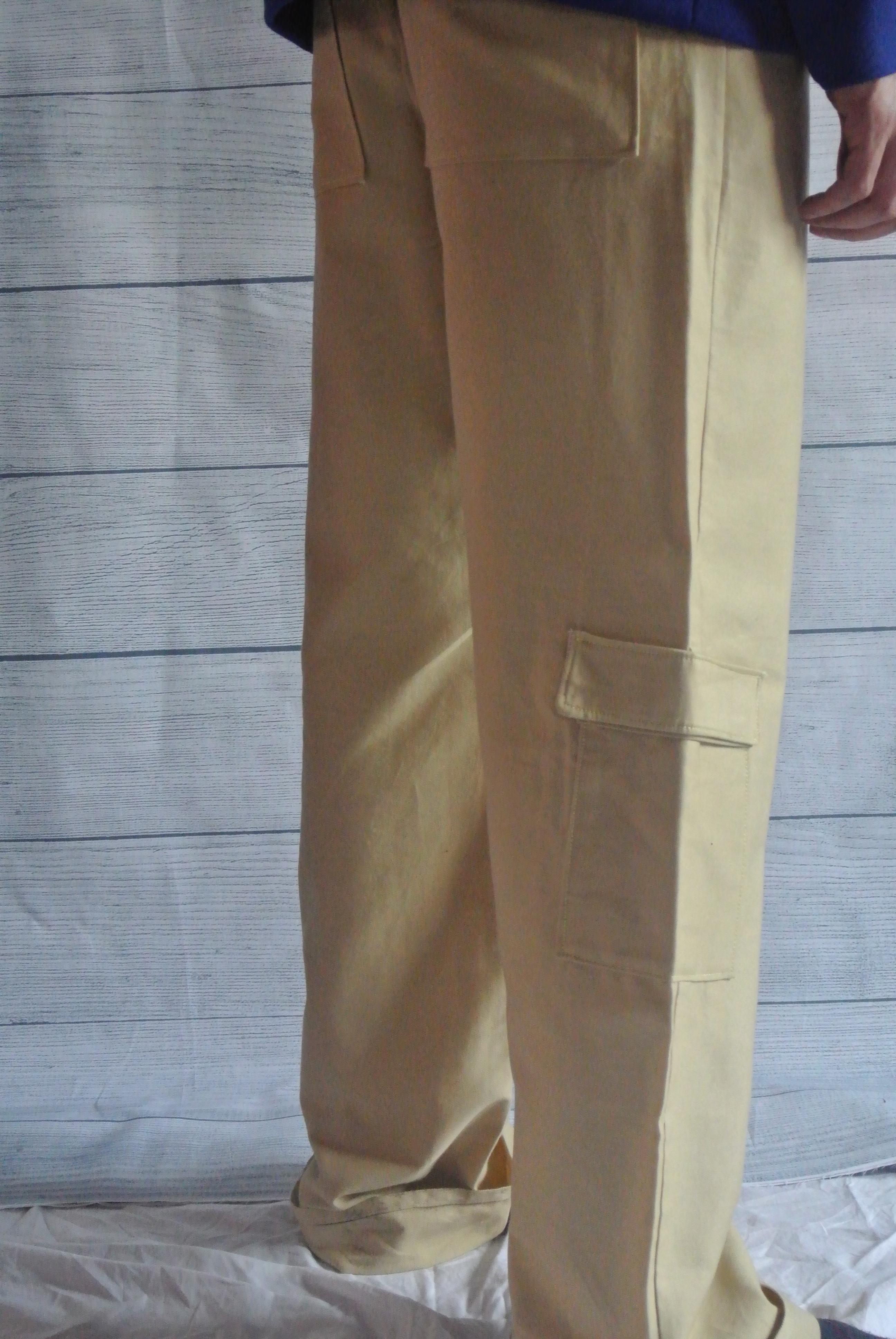 Beige Cargo Pants