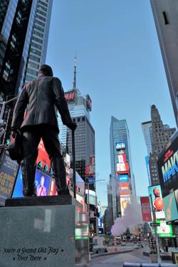 Time Square Statue.