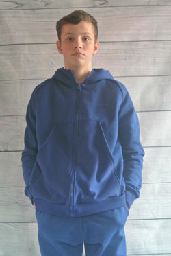 Blue Hooded Sweater and Jogging Pants