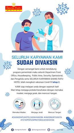 Seluruh Karyawan Shang Ratu Hotel Sudah Vaksin