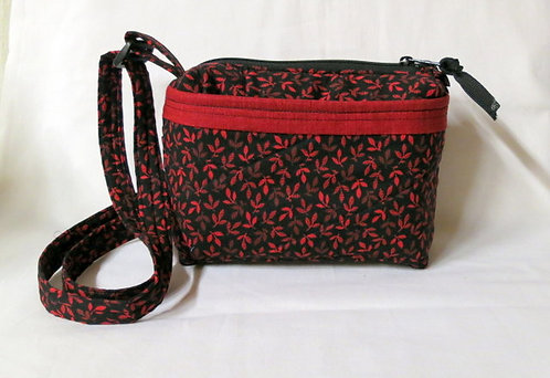 511, 514, 486 Purse Set, Red Black Leaf