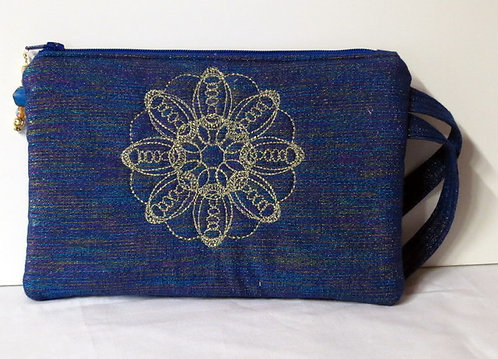 214 Wristlet, Blue Metallic